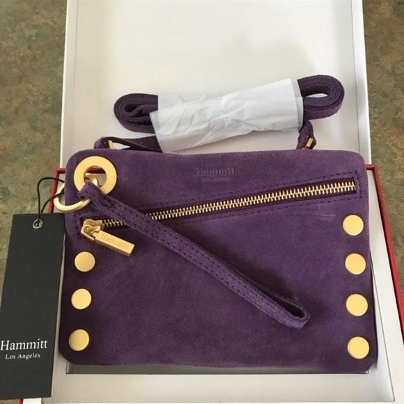 NWT Hammitt Los Angeles suede clutch crossbody bag 5bfe543f7e41e